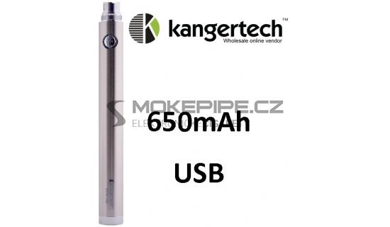 Kangertech EVOD baterie s USB 650mAh - Stříbrná
