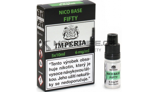 Nikotinová báze Imperia (50/50): 5x10ml / 6mg