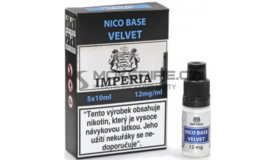 Nikotinová báze Imperia Velvet (20/80): 5x10ml / 12mg