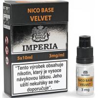 Nikotinová báze Imperia Velvet (20/80): 5x10ml / 3mg