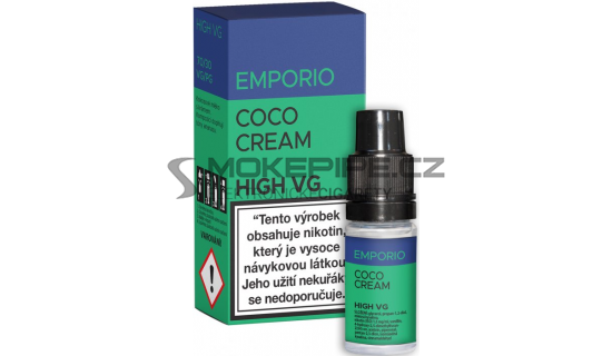 E-liquid Emporio High VG 10ml / 0mg: Coco Cream