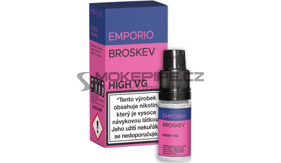 E-liquid Emporio High VG 10ml / 0mg: Broskev