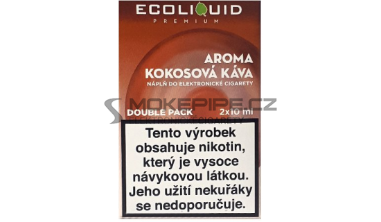 Liquid Ecoliquid Premium 2Pack Coconut Coffee 2x10ml - 3mg (Kokosová káva)