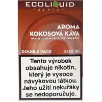 Liquid Ecoliquid Premium 2Pack Coconut Coffee 2x10ml - 0mg (Kokosová káva)