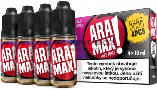 Liquid ARAMAX 4Pack Max Berry 4x10ml-3mg