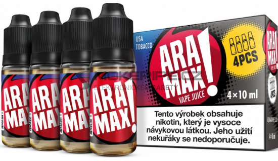 Liquid ARAMAX 4Pack USA Tobacco 4x10ml-6mg