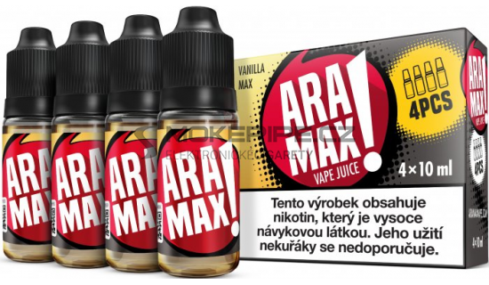 Liquid ARAMAX 4Pack Vanilla Max 4x10ml-12mg