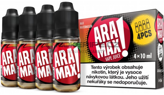 Liquid ARAMAX 4Pack Max Watermelon 4x10ml-3mg