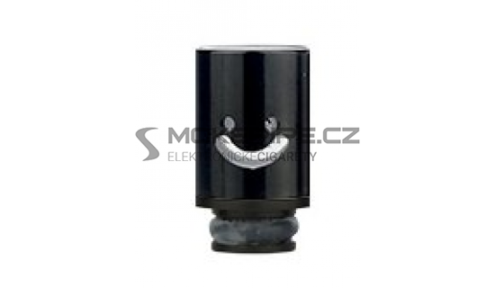 Aluminum POM Smile náustek pro clearomizer - Černá