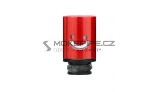 Aluminum POM Smile náustek pro clearomizer - Červená
