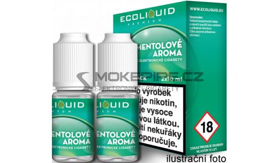 Liquid Ecoliquid Premium 2Pack Menthol 2x10ml - 6mg