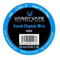 Vandy Vape Fused Clapton Ni80 odporový drát (26GA*2 + 35GA) - 3m