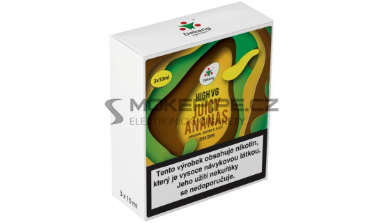 Liquid Dekang High VG 3Pack Juicy Ananas 3x10ml - 3mg
