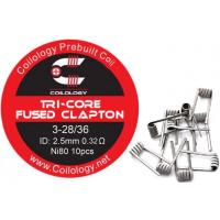 Coilology Tri-Core Fused Clapton předmotané spirálky Ni80 0,32ohm 10ks