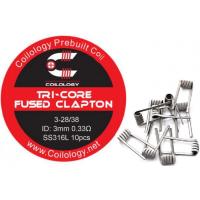 Coilology Tri-Core Fused Clapton předmotané spirálky SS316 0,33ohm 10ks