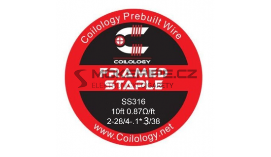Coilology Framed Staple odporový drát SS316 28/38