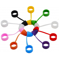 Silikonová krytka na náustek s dekorativním kroužkem - Červená