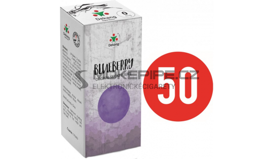 Liquid Dekang Fifty Blueberry 10ml - 0mg (Borůvka)