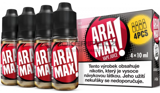 Liquid ARAMAX 4Pack Max Strawberry 4x10ml-18mg