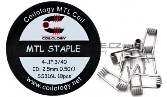 Coilology MTL Staple předmotané spirálky SS316 0,5ohm 10ks