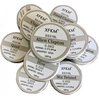XFKM Flat Twisted SS316 předmotané spirálky 0,3ohm 10ks