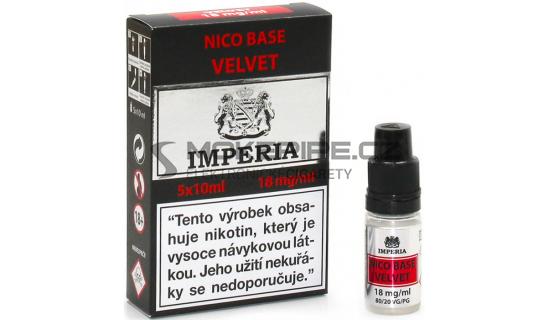 Nikotinová báze Imperia Velvet (20/80): 5x10ml / 18mg