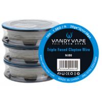 Vandy Vape Triple Fused Clapton Ni80 odporový drát (28GA*3 + 38GA) - 3m