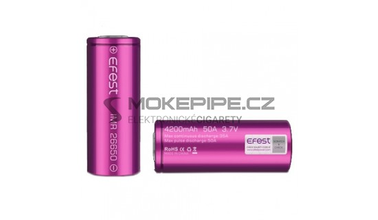 Efest IMR baterie typ 26650 4200mAh 35A - Purple