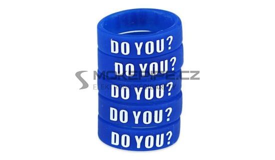 Dekorativní silikonový kroužek 23mm - Modrá