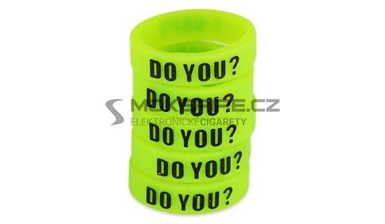 Dekorativní silikonový kroužek 23mm - Zelená