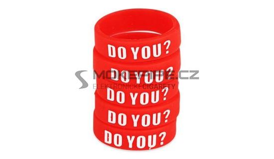 Dekorativní silikonový kroužek 23mm - Červená