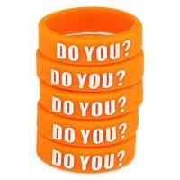 Dekorativní silikonový kroužek 23mm - Oranžová