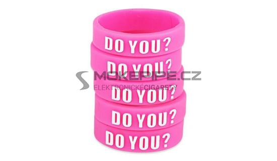 Dekorativní silikonový kroužek 23mm - Růžová
