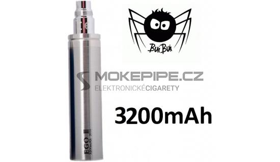 BuiBui GS eGo III baterie 3200mAh - Stříbrná