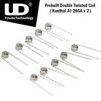 UD Double Twisted předmotaná spirálka (Kanthal A1 28GA x2, ID2.8 x 0,5ohm) 10ks