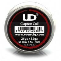 UD Clapton Coil (26GA SS316L + 32GA KA1, ID2.5x0.5ohm) - 10ks