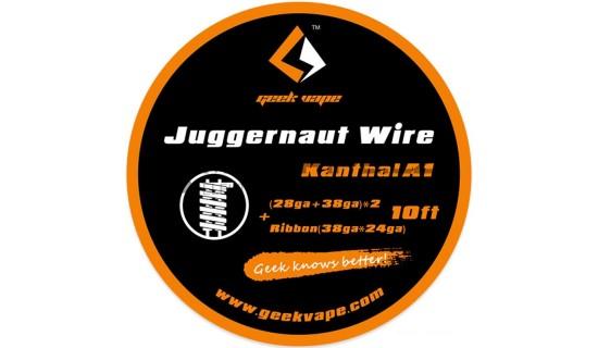 GeekVape Kanthal A1 Juggernaut Drát, 3m: (28GA+38GA) *2+Ribbon
