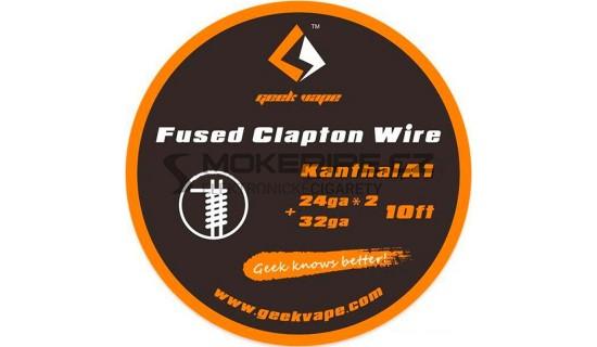 GeekVape Kanthal A1 Fused Clapton Drát, 3m: 24GAx2+32GA