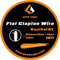 GeekVape Kanthal A1 Flat Clapton Drát Ribbon (26GA x 18GA + 32GA) - 3m