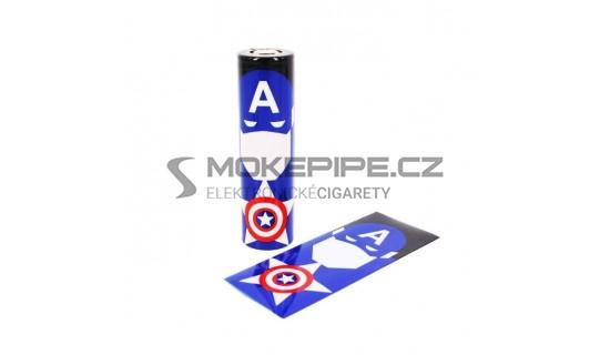 Smršťovací folie pro baterie 18650 (Captain America)