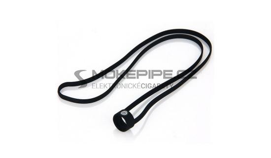Univerzální silikonová šňůrka na krk pro e-cigarety (19mm - 22mm) - Černá  ... 84551eed922