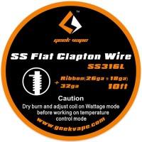 GeekVape SS Flat Clapton Drát Ribbon (26GA x 18GA + 32GA) - 3m