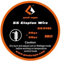 GeekVape SS Clapton odporový drát - 26ga + 30ga - 3m