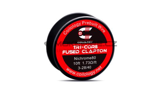 Coilology Tri-core Fused Clapton Ni80 odporový drát 28/40