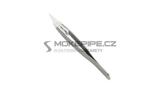 DIY pinzeta s keramickým hrotem - diagonální - Stříbrná / Typ B