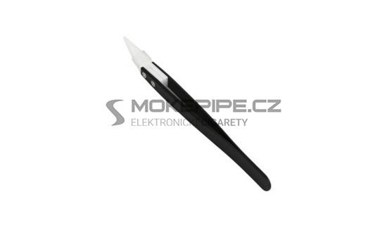 DIY pinzeta s keramickým hrotem - diagonální - Černá / Typ B