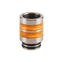 Nerezový náustek 810 s resinovými pruhy - Oranžová