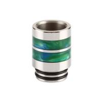 Nerezový náustek 810 s resinovými pruhy - Zelená