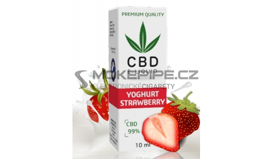 10ml CBD Vape Liquid - Strawberry Yoghurt 600mg (6%)