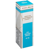Liquid Ecoliquid ICE Melon 10ml - 0mg (Svěží meloun)